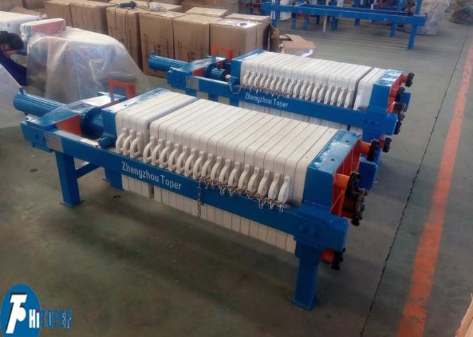High Efficiency Industrial Filter Press , WWTP 4m2 Automatic Filter Press Machine