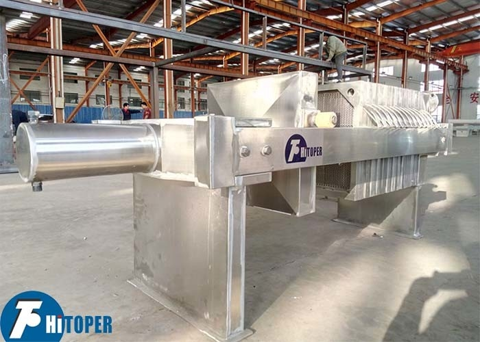 Chemical Slurry Stainless Steel Filter Press , 5m2 450mm Plate Frame Filter Press Unit