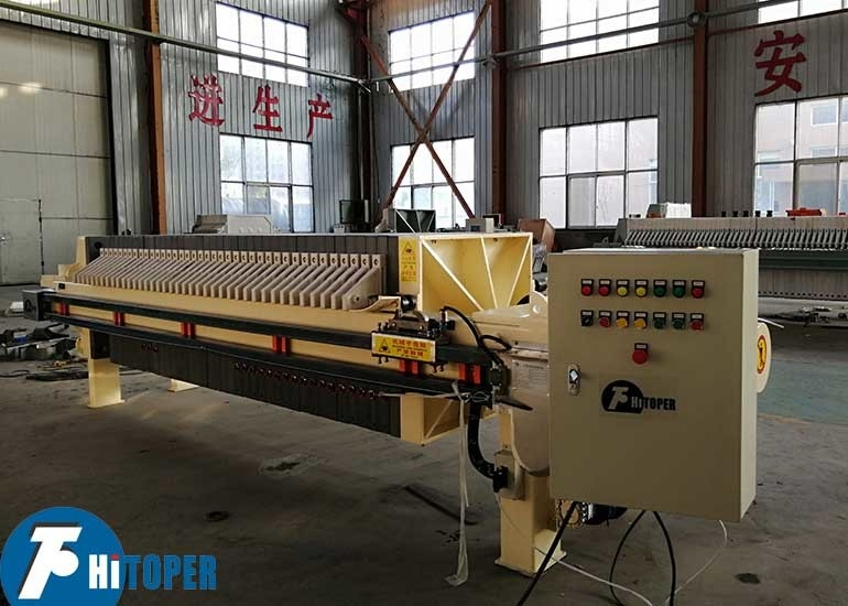 PLC Controlled Automatic Membrane Filter Press , Wastewater Treatment Filter Press Unit